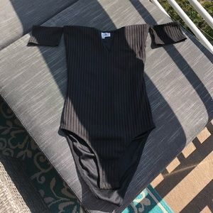 Showpo black off shoulder bodysuit